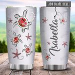 Sea Turtle Jewelry Style Red Personalized KD2 HRX0701005Z Stainless Steel Tumbler
