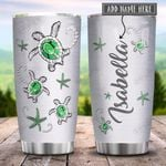Sea Turtle Jewelry Style Green Personalized KD2 HRX0701003Z Stainless Steel Tumbler