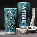 3D Picture Blue Skull Personalized KD2 HAL0701002Z Stainless Steel Tumbler