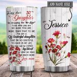 To My Dear Daughter In Law Carnation Personalized KD2 HRX0701008Z Stainless Steel Tumbler