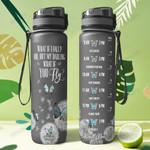 Butterfly Poet KD4 THA0601010Z Black Water Tracker Bottle