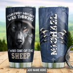 Personalized Wolf First Mistake DNZ0801018Z Stainless Steel Tumbler
