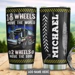 Personalized Trucker Biker HLZ0801017Z Stainless Steel Tumbler