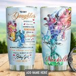 Personalized Giraffe Mom To Daughter TTZ0801008Z Stainless Steel Tumbler