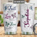 Butterfly Faith Personalized NNR0801005Z Stainless Steel Tumbler
