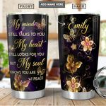 Butterfly Personalized PYR0801007Z Stainless Steel Tumbler