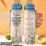 Dragonfly Hippie Personalized PYR0801003Z Water Tracker Bottle