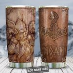 Wooden Style Vikings Personalized KD2 HNL0801010Z Stainless Steel Tumbler