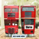 Red DD Bus Personalized KD2 MAL0801006Z Stainless Steel Tumbler