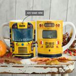 School Bus Head Personalized KD2 MAL0801003Z Full Color Ceramic Mug