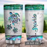 Sea Turtle Paua Shell Personalized KD2 HRX0801009Z Stainless Steel Tumbler