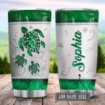 Sea Turtle Emerald Green Personalized KD2 HRX0801003Z Stainless Steel Tumbler
