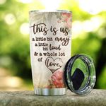 Wooden Style Dragon Couple KD2 HAL0601017Z Stainless Steel Tumbler