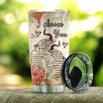 Wooden Style Elephant Couple KD2 HAL0601018Z Stainless Steel Tumbler