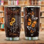 To My Daughter Butterfly Sunflower KD2 HAL0701013Z Stainless Steel Tumbler