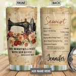Personalized Sewing Faith Nutrition Facts BGM0601004Z Stainless Steel Tumbler