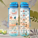 To My Daughter Turtle KD2 HAL0801013Z Water Tracker Bottle
