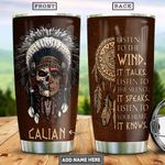 Native Skull Personalized PYR0801009Z Stainless Steel Tumbler