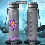 Butterfly Personalized PYR0901001Z Black Water Tracker Bottle