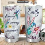 Hummingbird Crystal Style Personalized PYR0901009Z Stainless Steel Tumbler