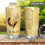 Faith Butterfly Personalized HHA0901003Z Stainless Steel Tumbler