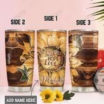 Personalized Sunflower Hummingbird TTZ0901026Z Stainless Steel Tumbler