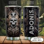 3D Native Skull Personalized KD2 HAL0901003Z Stainless Steel Tumbler