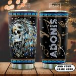 3D Colorful Native Skull Personalized KD2 HAL0901001Z Stainless Steel Tumbler