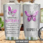 Butterfly Advice Jewelry Style Personalized NNR1101008Z Stainless Steel Tumbler