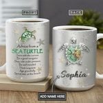 Turtle Advice Jewelry Personalized NNR1101005Z Full Color Ceramic Mug