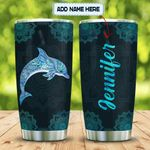 Hologram Blue Dolphin Mandala Personalized KD2 MAL1101003Z Stainless Steel Tumbler