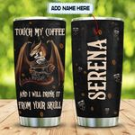 Dragons Love Coffee Personalized KD2 MAL1101001Z Stainless Steel Tumbler
