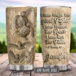 Faith Sea Turtle Sand Ceramic Personalized KD2 HRX1101002Z Stainless Steel Tumbler