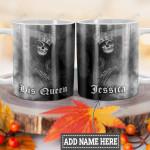 Personalized Skull Couple Woman HLZ1101017Z Full Color Ceramic Mug