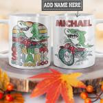 Personalized Grandpa Shark Biker HLZ1101008Z Full Color Ceramic Mug