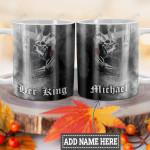Personalized Skull Couple Man HLZ1101016Z Full Color Ceramic Mug