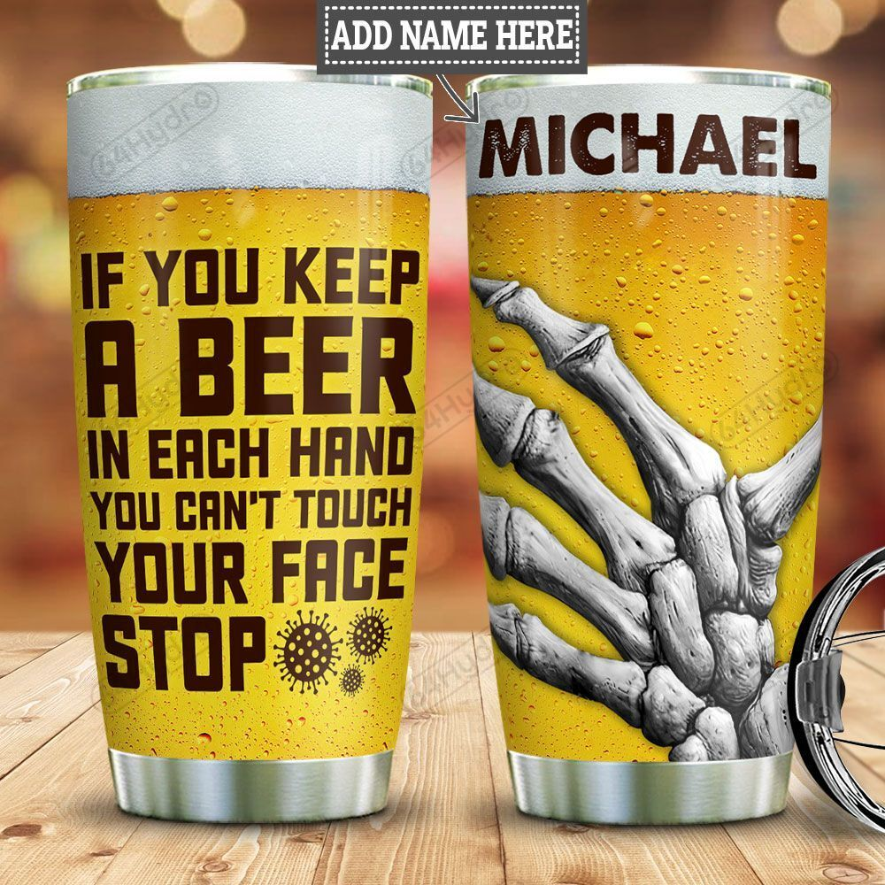 Personalized Keep A Beer HLZ1101026Z Stainless Steel Tumbler