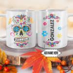 Personalized Mexico Sugar Skull DNZ1101013Z Full Color Ceramic Mug