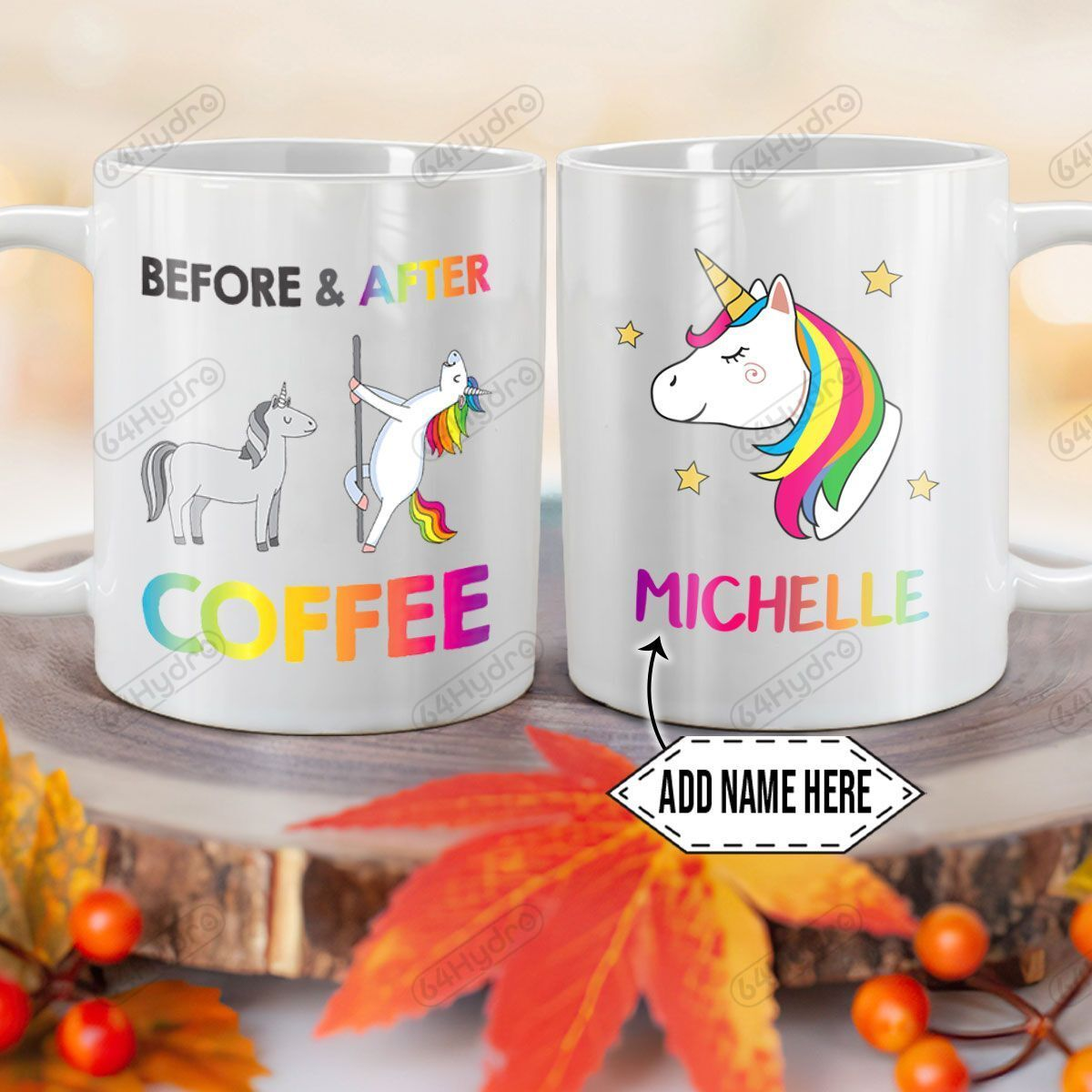 Personalized Coffee Lover Horse To Unicorn DNM1101004Z Full Color Ceramic Mug