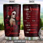 Personalized Skull Rose Woman BGZ0901022Z Stainless Steel Tumbler
