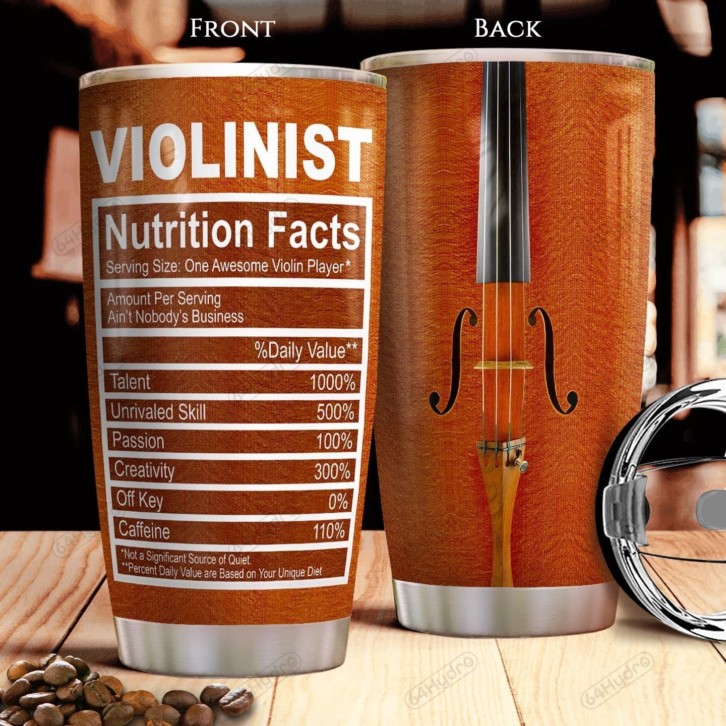 Violin Facts KD4 THA1201014Z Stainless Steel Tumbler