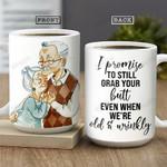Old Couple THA1201012Z Full Color Ceramic Mug