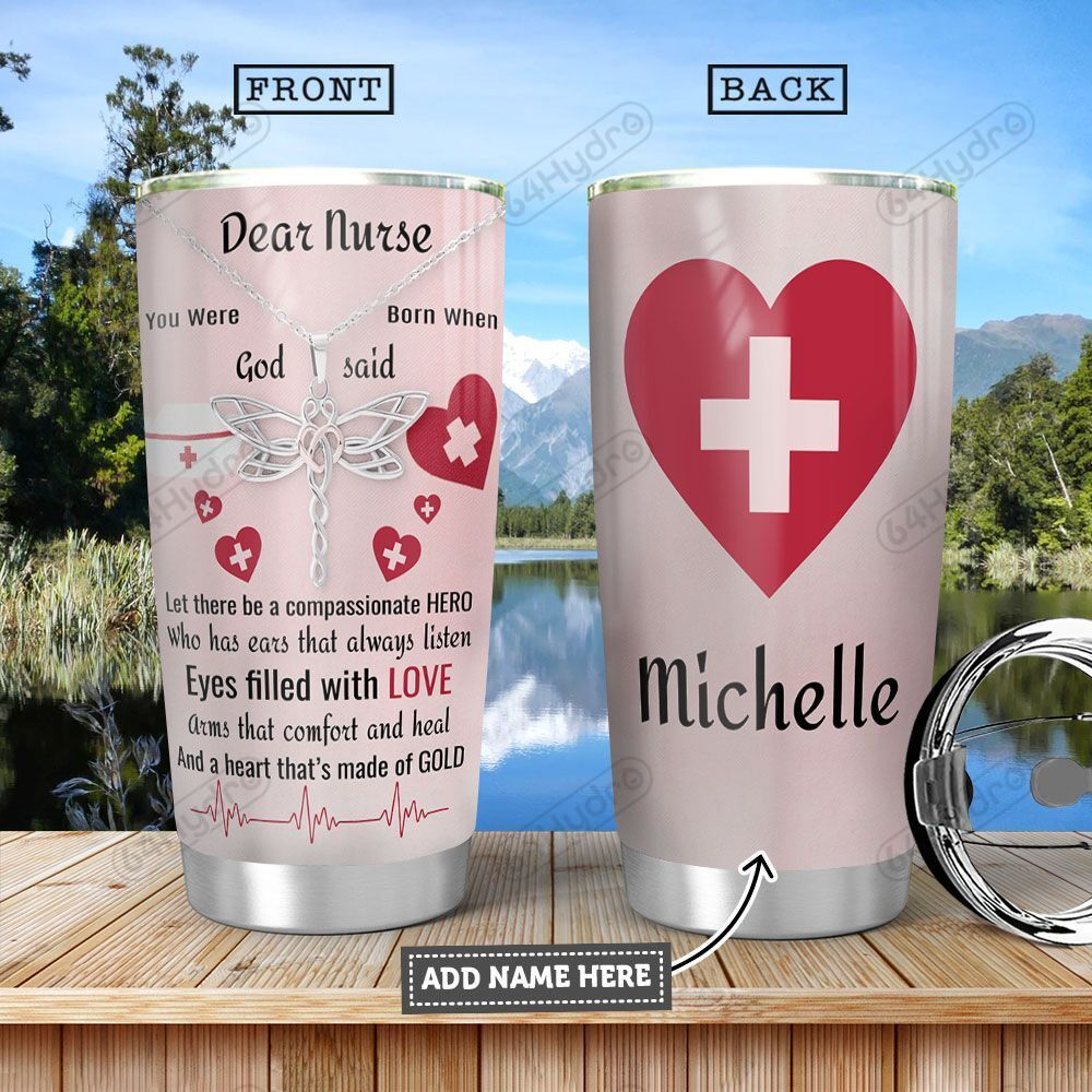 Nurse Personalized HHA1201010Z Stainless Steel Tumbler