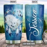 Personalized Wolf Couple BGZ1201018Z Stainless Steel Tumbler