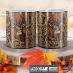 Personalized Deer Leather Style HLZ1201006Z Full Color Ceramic Mug