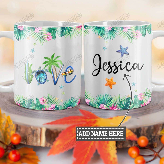 Personalized Turtle Beach Love TTZ1201011Z Full Color Ceramic Mug
