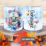 Personalized Sugar Skull TTZ1201010Z Full Color Ceramic Mug