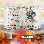 Personalized Sugar Skull Mom To Daughter TTZ1201009Z Full Color Ceramic Mug