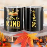 Personalized Black Men King BGZ1201002Z Full Color Ceramic Mug