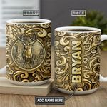 Deer Bronze Style Personalized NNR1201002Z Full Color Ceramic Mug
